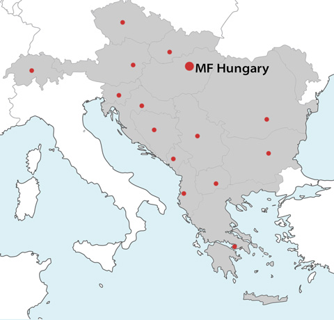 Map of Europe Operations for Mega Fortris Hungary